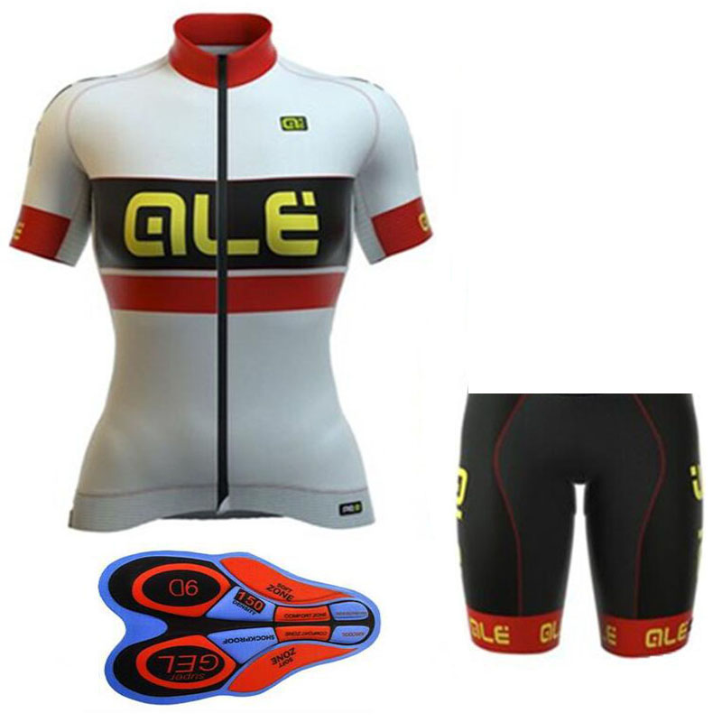 2018 Ale summer ropa ciclismo short sleeve Cycling jersey Shorts kit Breathable cycling clothing bike wear for Women