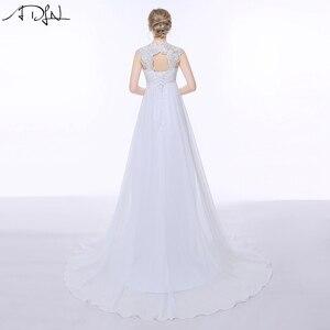 Image 2 - Женское шифоновое платье ADLN, элегантное пляжное платье с открытой спиной и шлейфом в стиле бохо, свадебное платье для беременных