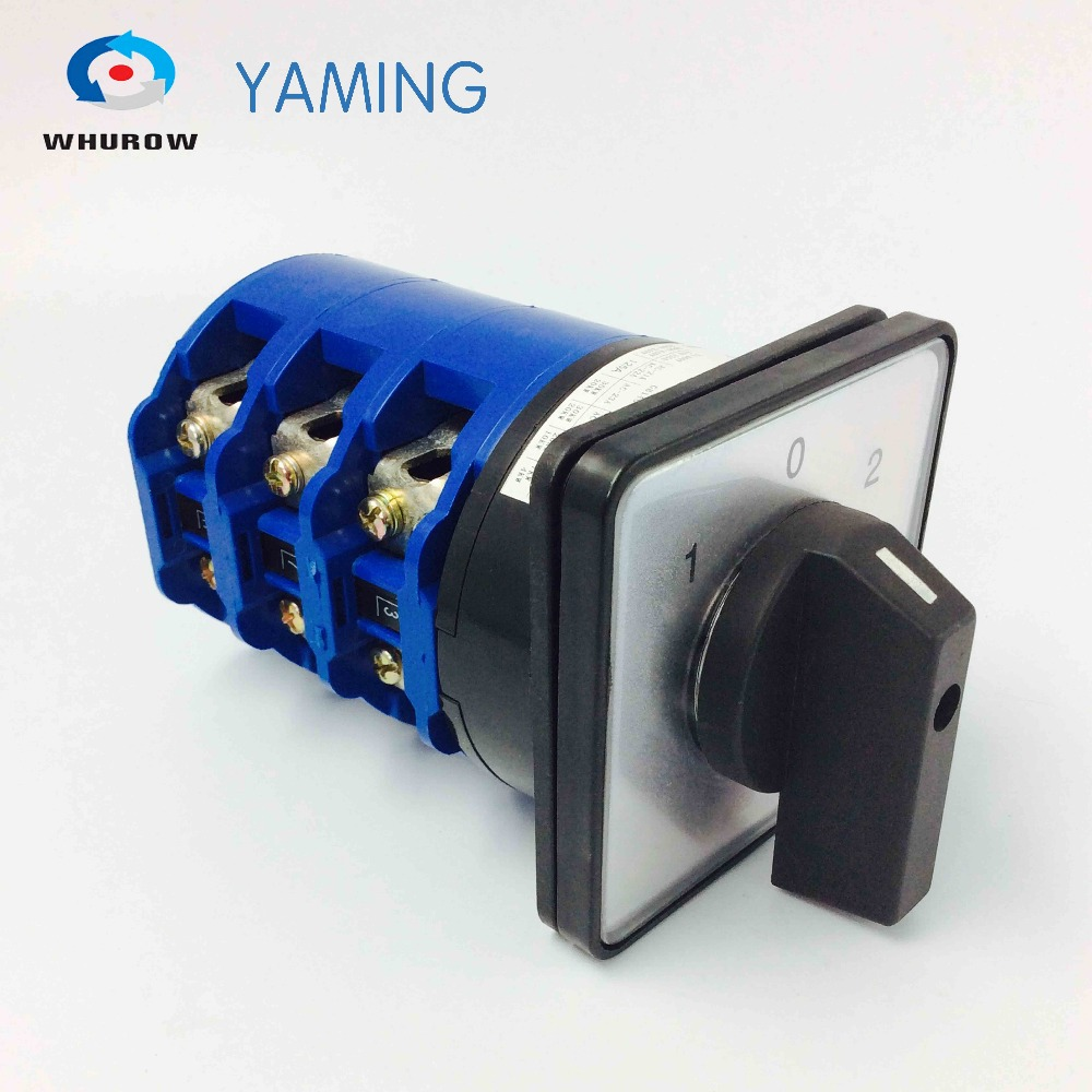 Promotion 660V 125A 3 Phase 3 Position on-off-on Panel Mounting Cam Changeover Switch Reversing switches rotary LW26-125/3 ui 660v ith 32a on off load circuit breaker cam combination changeover switch
