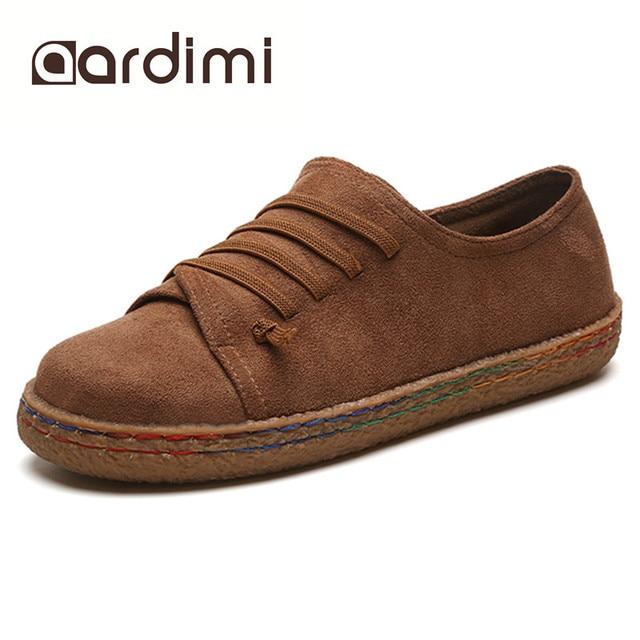 Donne appartamenti delle scarpe vintage primavera autunno 4 colori piatto  con delle donne punta rotonda mocassini 02ffc600c82