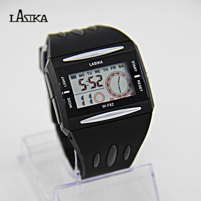 f1d94a13d0206 Hot Sale Lasika W-F62 Men Fashion Wristwatches New Water Resistant Black  Band Digital Men s
