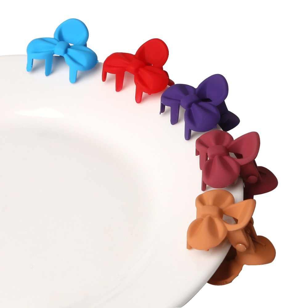 10 יח'\סט קוריאני שיער טפרי שיער אביזרי בנות סיכת ראש קטן פרחי שיער קליפים פוני לילדים אקראי צבעים