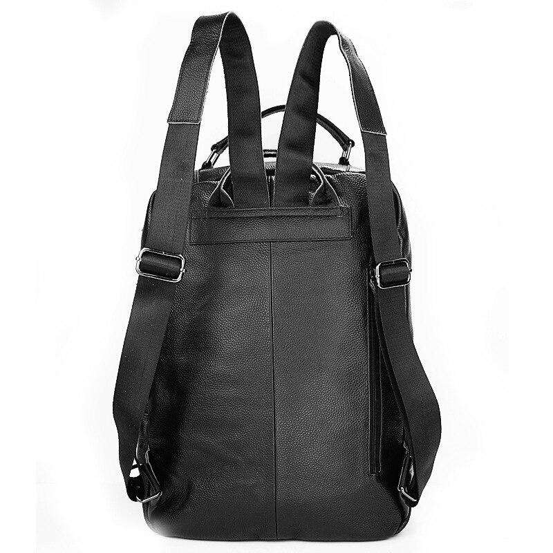 Hommes sac à dos Double sac à bandoulière affaires loisirs voyage Charge en cuir véritable imperméable à l'eau - 5