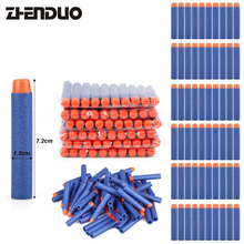 ZhenDuoToys 100Pcs 7 2cm Soft Bullet Multicolor Colors Hollow Head Refill Form Gun Accessories Toy
