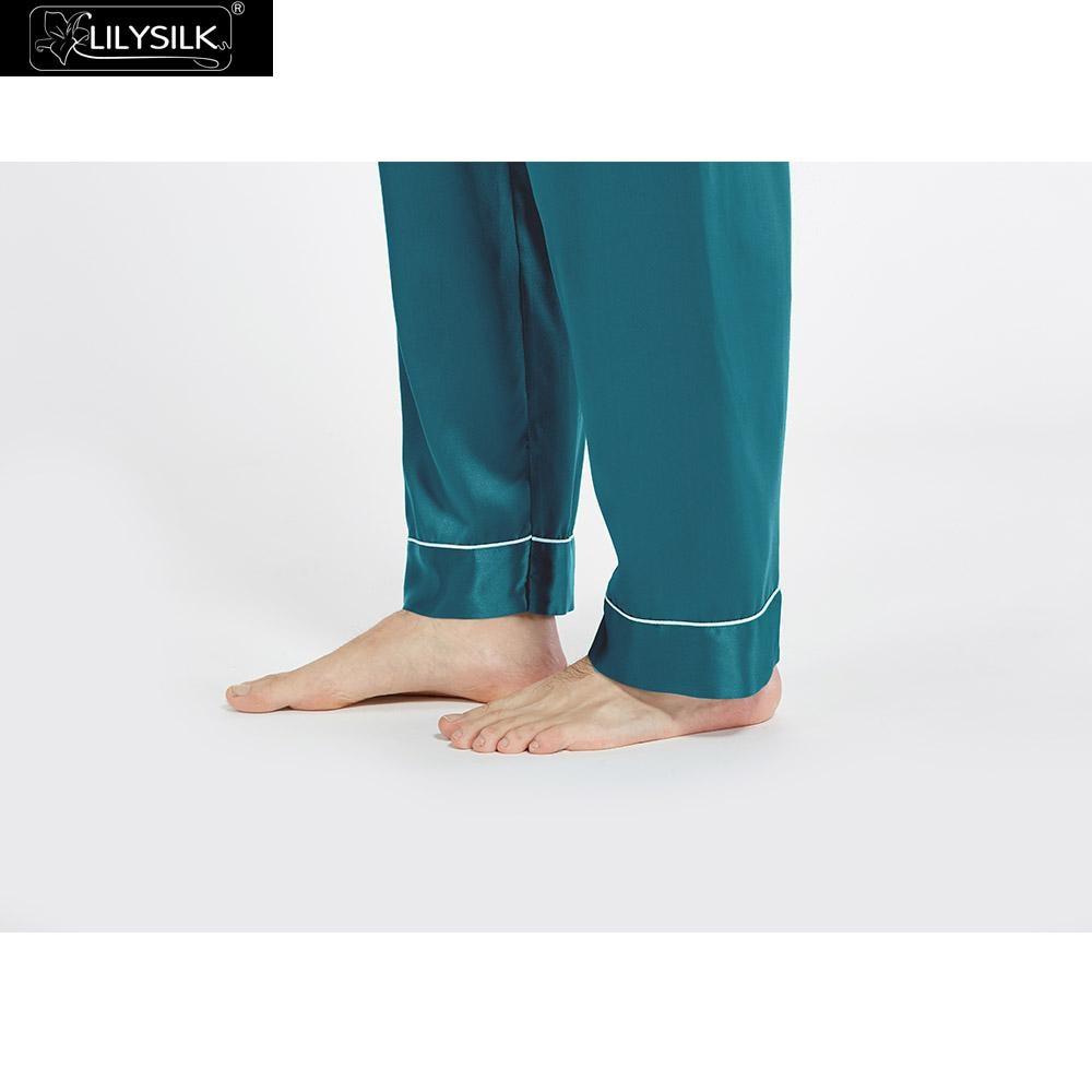 9a75afa805 LILYSILK Pajamas Set for Men Silk Summer 22 momme Most Comfortable Sleepwear  Free Shipping-in Men s Pajama Sets from Underwear   Sleepwears on ...