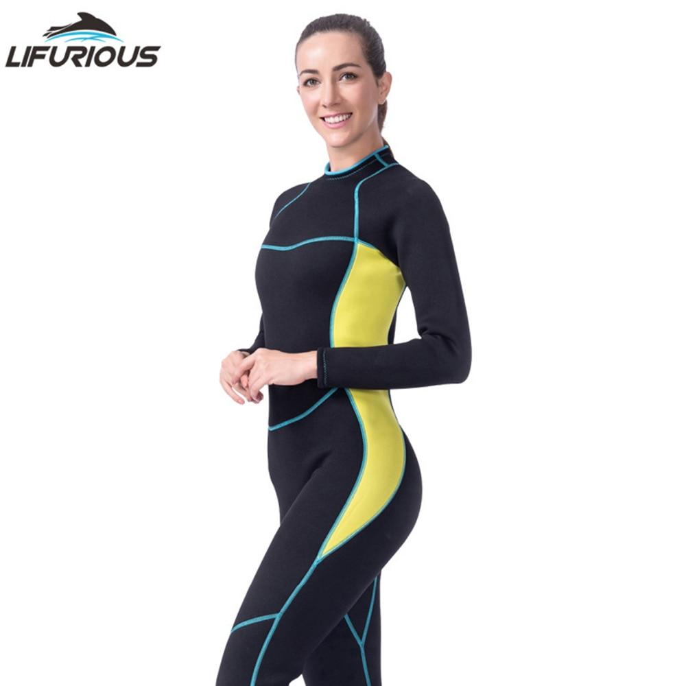 3e07db7d44 US $67.99 |Female long sleeved diving suit Neoprene Wetsuit Women One Piece  Swimsuit Spearfishing Women Wetsuits Surfing Swimwear Wetsuit-in Wetsuit ...