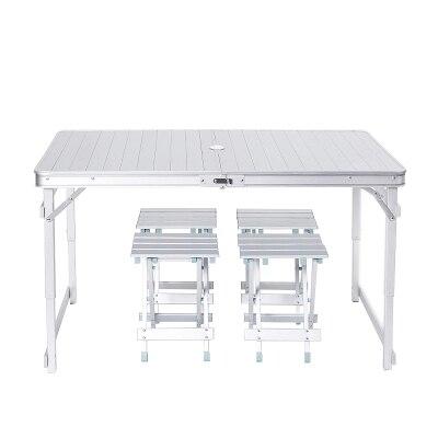 Loisirs de plein air tout en aluminium plage pique-nique décrochage pêche conduite ascenseur portable tables et chaises pliantes