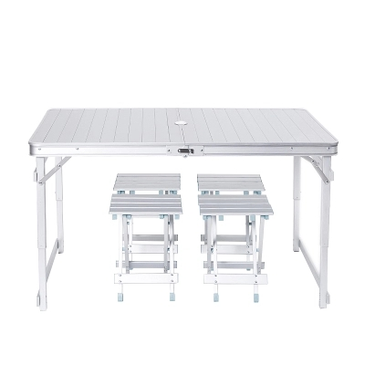 Outdoor leisure all-aluminum beach picnic stall fishing driving lift portable folding tables and chairs