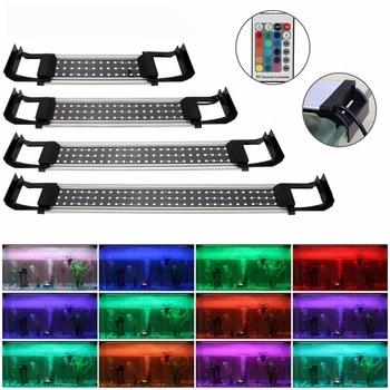 8 Вт 10 Вт 13 Вт 15 Вт RGB дистанционное изменение цвета аквариумные огни аквариум светодиодные лампы светодио дный выдвижными кронштейнами аква...