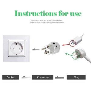 Image 2 - Adaptador de enchufe europeo de alta calidad, adaptador de corriente de viaje Universal para Cargador eléctrico, 1 unidad