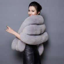 New Women Wedding Shawl Evening Party Dress Wrap Fur Shoulder Capes Bridal Jacket Coat Faux Fox Fur Slim Lady Fake Fur Cloak 438(China)