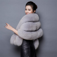 New Women Wedding Shawl Evening Party Dress Wrap Fur Shoulder Capes Bridal Jacket Coat Faux Fox Fur Slim Lady Fake Fur Cloak 438