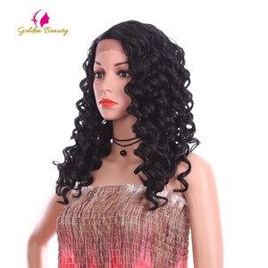 Image 3 - Perruque Lace Front Wig bouclée noire Golden Beauty