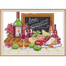 NKF Wine Counted Cross Stitch 11CT 14CT Cross
