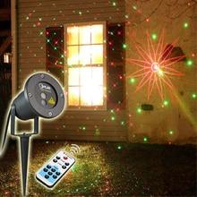 Открытый IP65 Водонепроницаемый Лазерный Свет Открытый Рождественские Огни Проектор Сад Ландшафт Травы Декоративные Огни С 8 Моделей