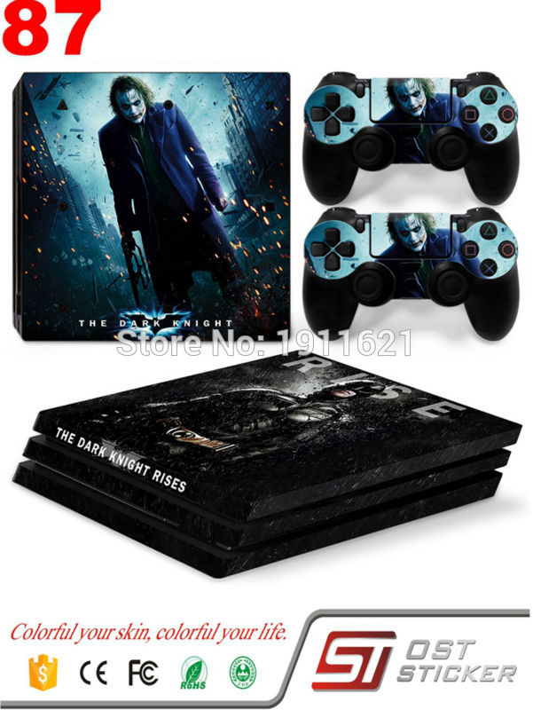 The Dark Knight Joker For PS4 Pro Skin Sticker For Sony Playstation 4 Pro Console Protection and Cover Decals Of 2 Controller
