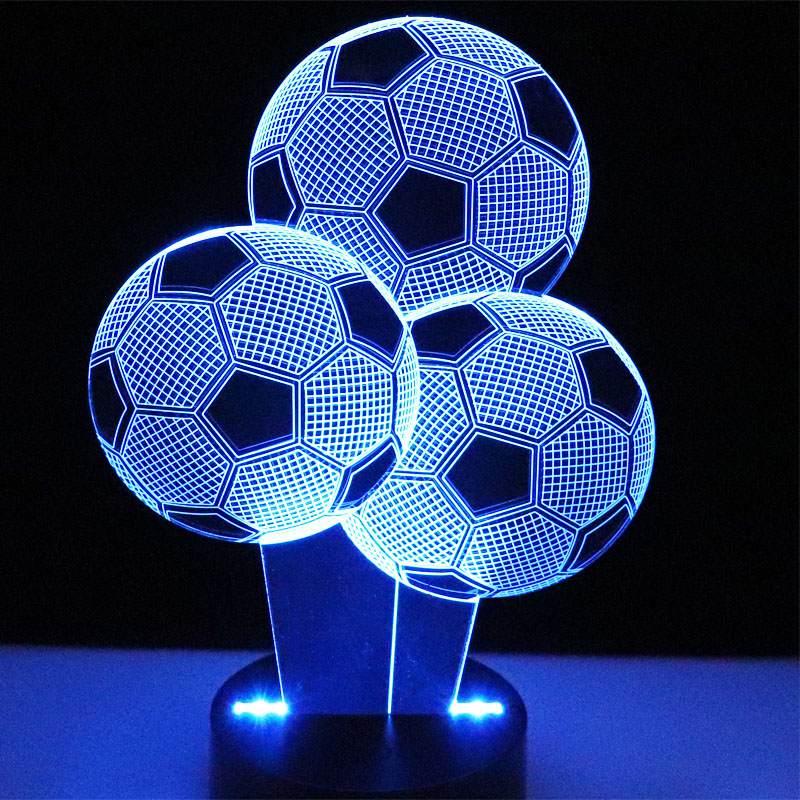 3D LED Night Light Multiple Football Soccer with 7 Colors Light for Three Home Decoration Lamp Amazing Visualization Optical image