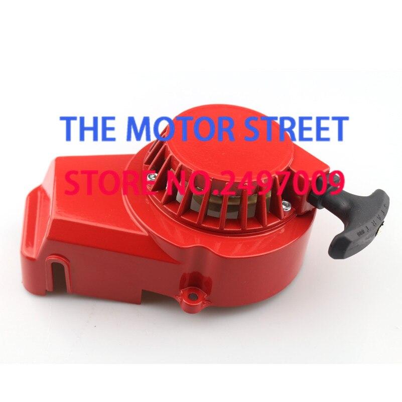 Compras gratis de aluminio Mini moto fácil retroceso arranque fit 2 tiempos 47cc 49cc Motor de bolsillo bicicleta Mini moto Dirt Bike niños