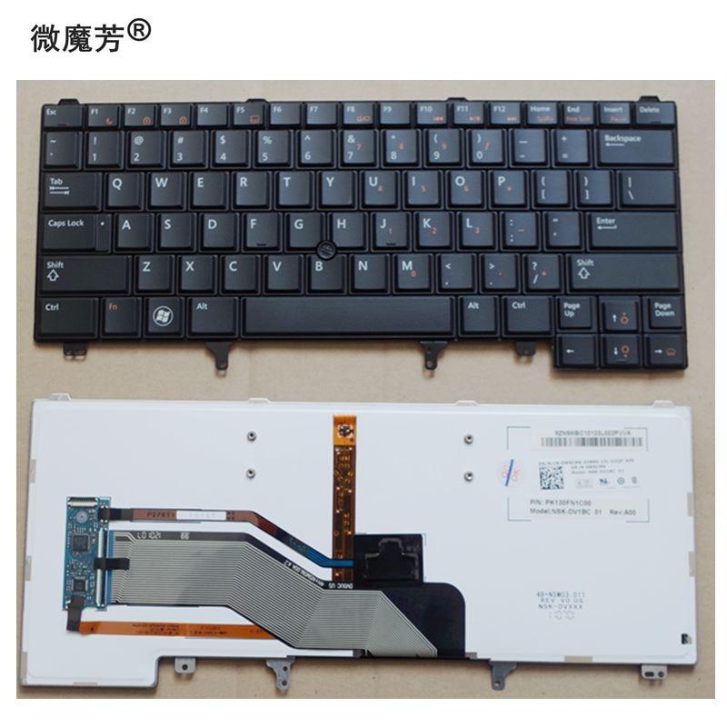 US With pointing stick Black New English laptop keyboard For DELL E6420 E5420 E5430 E6220 E6320 E6330 E6420 E6430 Backlight laptop keyboard for dell latitude d410 black with pointing po portugal 9j n3582 l04 nsk d4l04