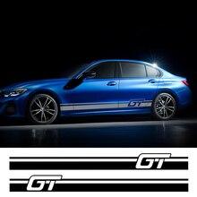 2 шт. Автомобильная боковая наклейка для Audi BMW Ford Volkswagen Toyota Renault peugeot Авто Виниловая пленка гоночная наклейка Аксессуары для тюнинга автомобиля