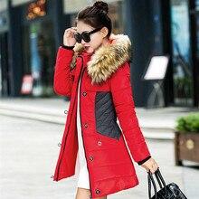 New brand Winter warm Jacket Women Parka Fur Collar Thickening Windproof outerwear Cotton Padded long slim plus size 3XL Coat