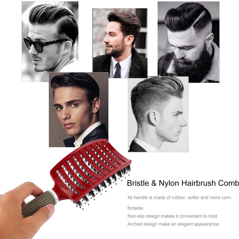 Women Hair Scalp Massage Comb Bristle Hairbrush Wet Curly Detangle Hair Brush For Salon Hairdressing Styling Tools Drop Shipping #5