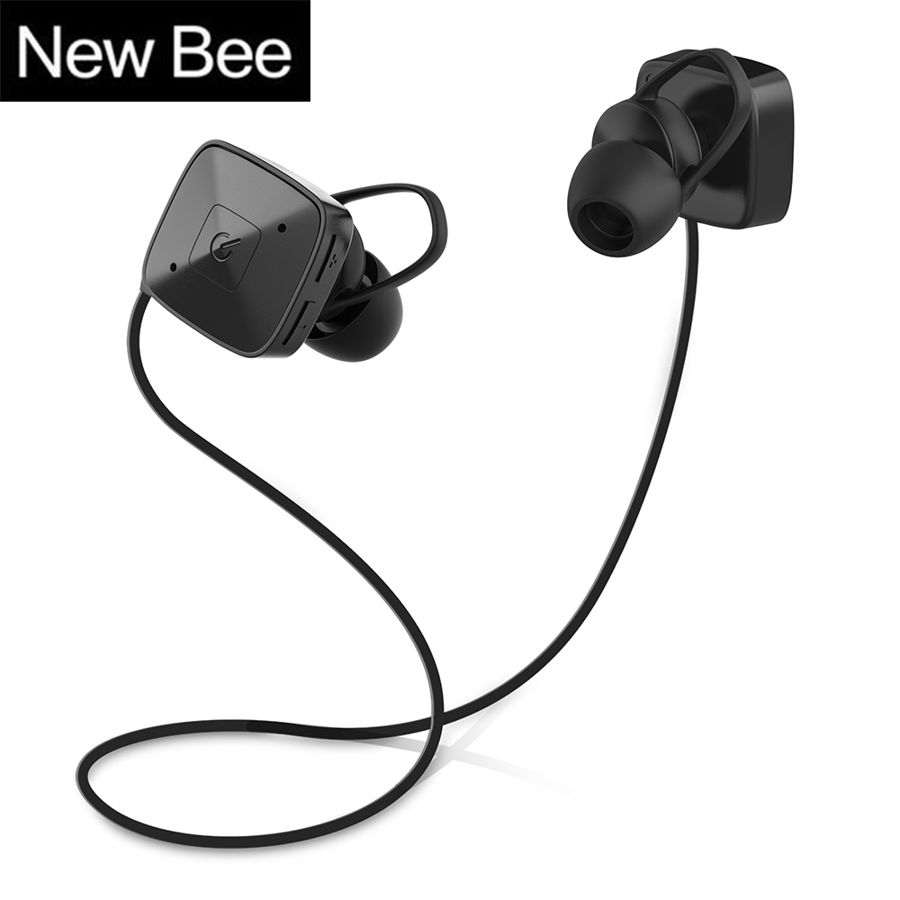 New Bee M3 Sport Bluetooth Earphone Stereo Hands free Headset earpiece Fone de ouvido with Microphone for Xiaomi Phone Iphone showkoo stereo headset bluetooth wireless headphones with microphone fone de ouvido sport earphone for women girls auriculares