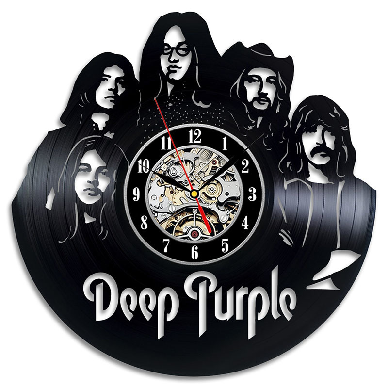 Deep Purple Live Vinyl Record Clock Wall Art Home Decor LED With 7colors