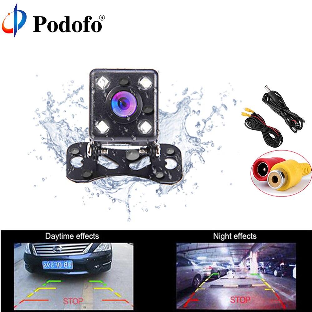 Podofo Auto Videocamera vista posteriore 170 Gradi Reverse Backup Telecamere per il Parcheggio con Visione Notturna di IR Sistema di Parcheggio Parktronic Auto Coperture