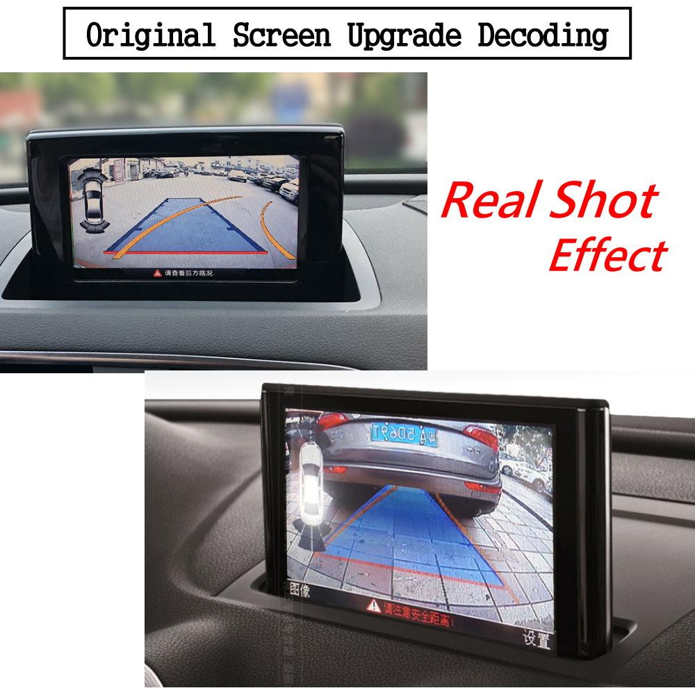Liislee For Audi Q3 2010~2018 Front Rear View Reversing Camera Original screen upgrade Interface Adapter backup Camera Decoder 3