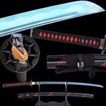 Brandon Swords Sharpened Japanese Katana High Carbon Steel Blade Full Tang Combat Samurai Swords Metal Home Decoration