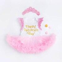 @ 2 Adet 0-24 M Bebek Çocuk Kız Elbise + Kafa Bebek Tutu Dantel Prenses Kıyafetler Yürümeye Başlayan Tulum Romper Giysileri Parti Newbron