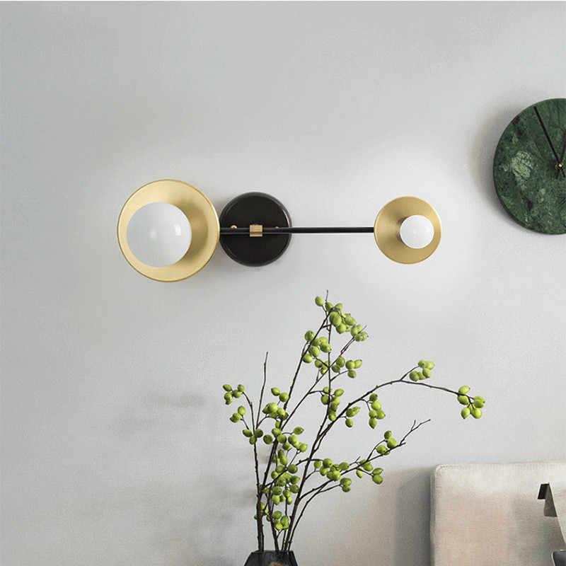 Минималистский стиль прикроватная вешалка Lmap Творческий Ретро латунь гостиная ресторан бра освещение Бесплатная доставка
