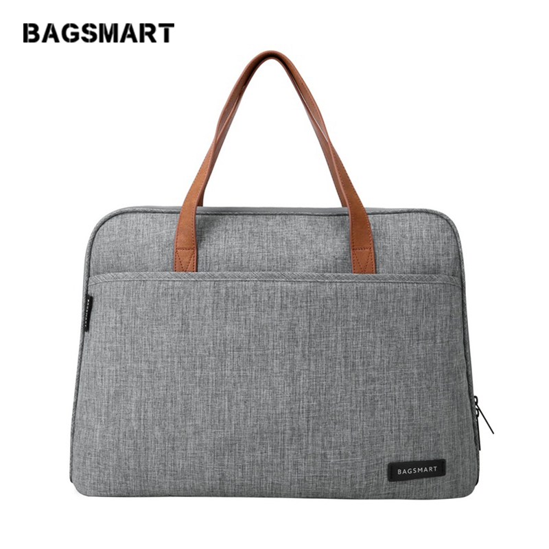 BAGSMART 14 Inch Laptop Briefcase Waterproof Laptop Bag Lightweight Messenger Bags Causal Handbag Fashion Nylon(China)