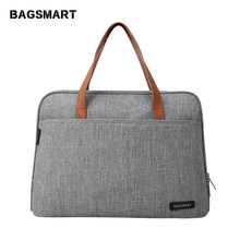 Bagsmart 14 Inch Tas Laptop Tas Laptop Tahan Air Ringan Messenger Tas Kasual Tas Fashion Nylon(China)