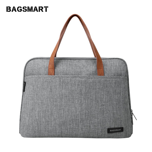 BAGSMART 14 Inch Laptop Briefcase Waterproof Laptop Bag Lightweight Messenger Bags Causal Handbag Fashion Nylon