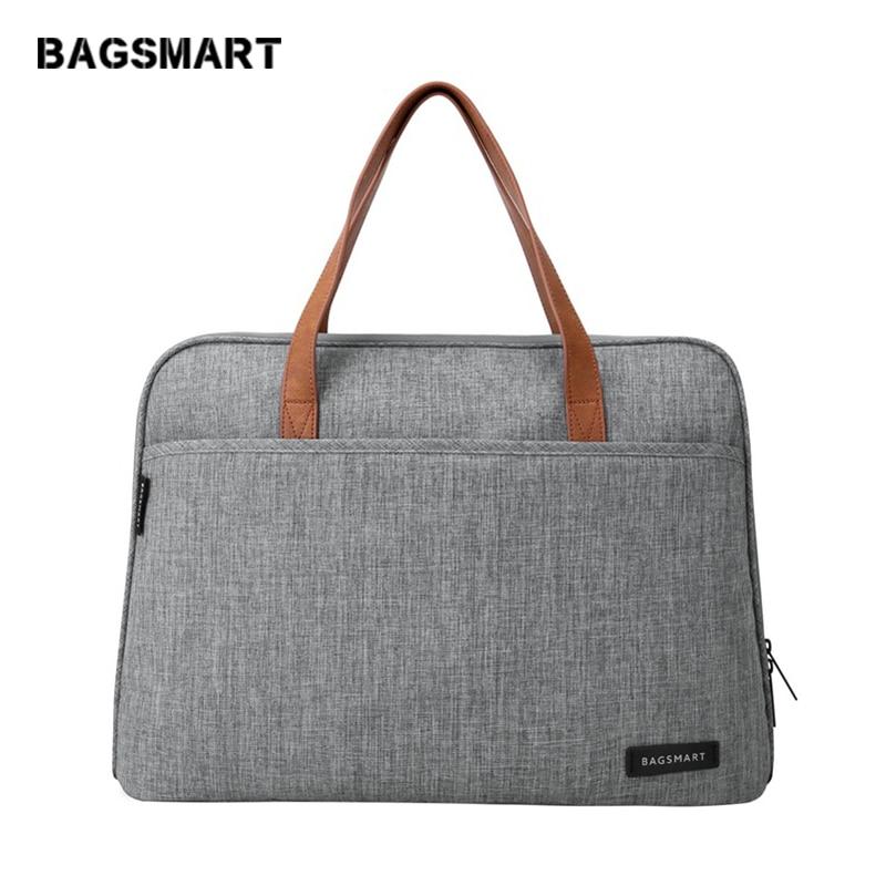BAGSMART Nueva Moda de Nylon Hombres 14 Pulgadas Bolsa de Ordenador - Maletines