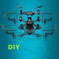 Bricolage Mini Drone Avec/Sans Caméra HD Haute Tenue Mode RC quadrirotor RTF WiFi FPV Pliable Drone RC