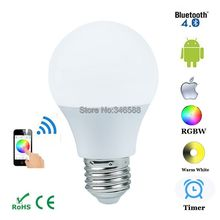 Magic Blue 4.5W E27 RGBW Led Light Bulb Bluetooth 4.0 Smart Lighting Lamp Color Change Dimmable for Home Hotel AC85-265V