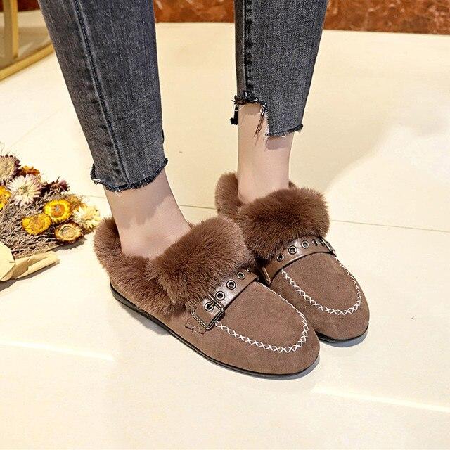 3baffac0eedad Zapatos de invierno para mujer botas de nieve de mezclilla con plataforma  cálida pulgas clásicas de