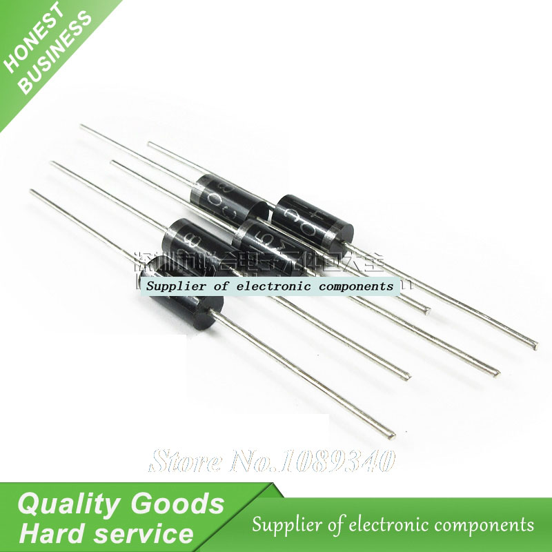 10PCS <font><b>SB5200</b></font> Schottky Barrier Rectifier Diode 5A 200V DO-201AD/DO-27 New Original Free Shipping image