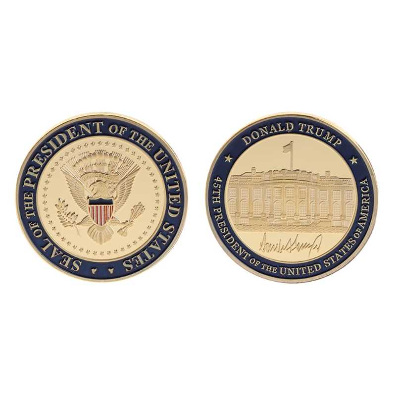 Non Valuta Munt Hoge Kwaliteit Collectie Coin Herdenkingsmunt Ons 45th President Donald Trump Collection Arts Geschenken Souvenir