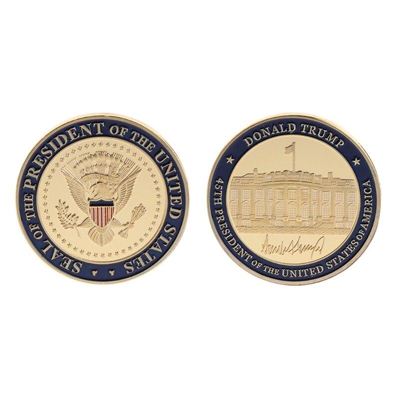 Монета без денег, высококачественная коллекционная монета, памятная монета, 45-й президент США Дональд Трамп, художественные подарки для кол...