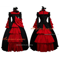 Medieval Gown Gothic Lolita Punk Ball Gown Dress Cosplay Costume Custom made[G496]