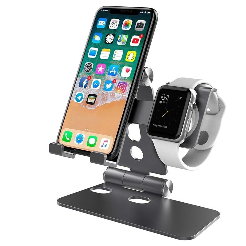 Handy Halter Faltbare Schreibtisch Stand Telefon Tutucu Soporte Movil Porta Suporte Celular Für Iphone X XR Apple Uhr Tablet