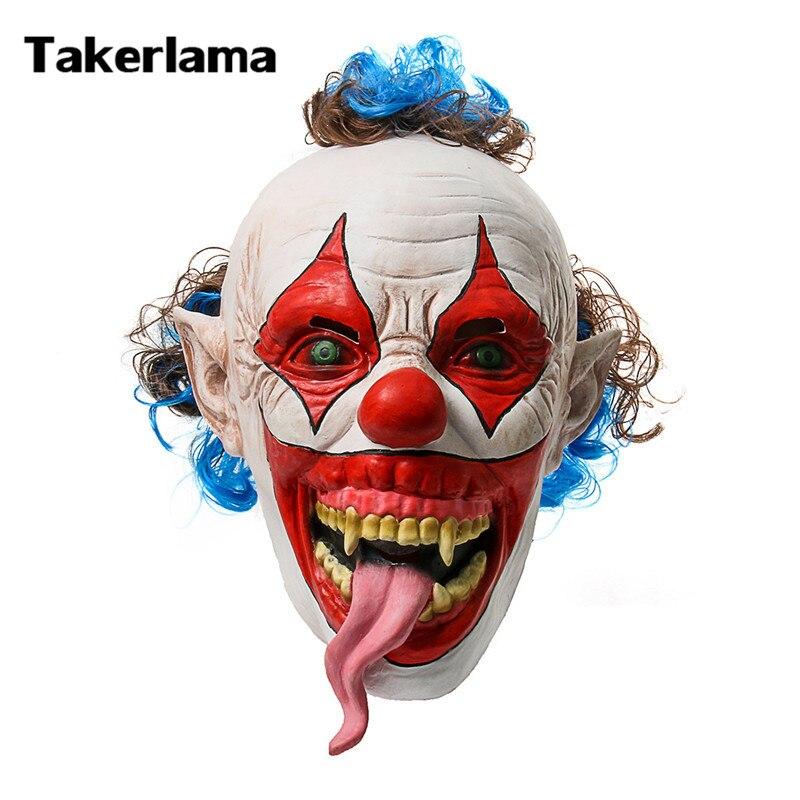 Takerlama Snake Tongue Creepy Evil Clown Mask Scary Halloween ...