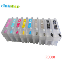 For Epson R3000 Refillable cartridges for stylus photo Printer T1571 T1572 T1573 T1574 T1575 T1576 T1577 T1578 T157