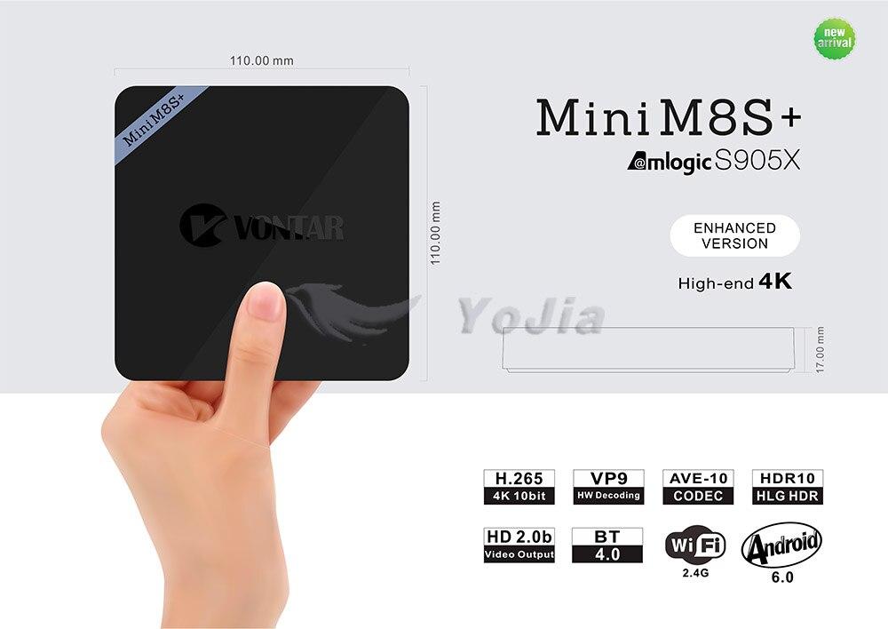 VONTAR Mini M8S+ Android 6.0 TV Box VONTAR Mini M8S+ Android 6.0 TV Box HTB1t1jQKFXXXXXIaXXXq6xXFXXXN