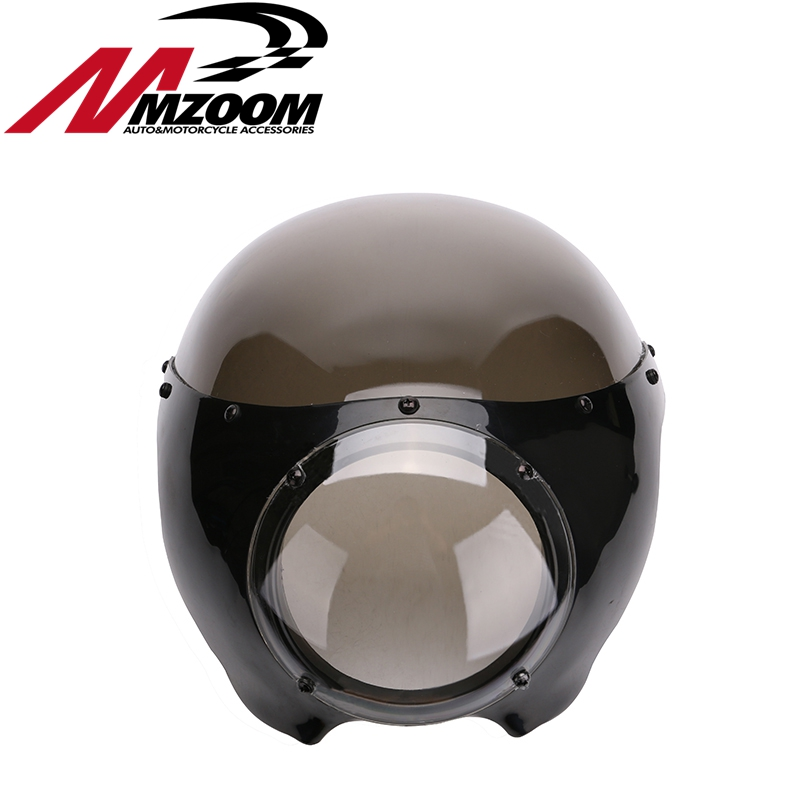 new arrived motorcycle Black 5 3/4 Cafe Racer Headlight Fairing For Sportster 883 1200 Dyna 5 3 4 led headlight for triumph rocket iii 3