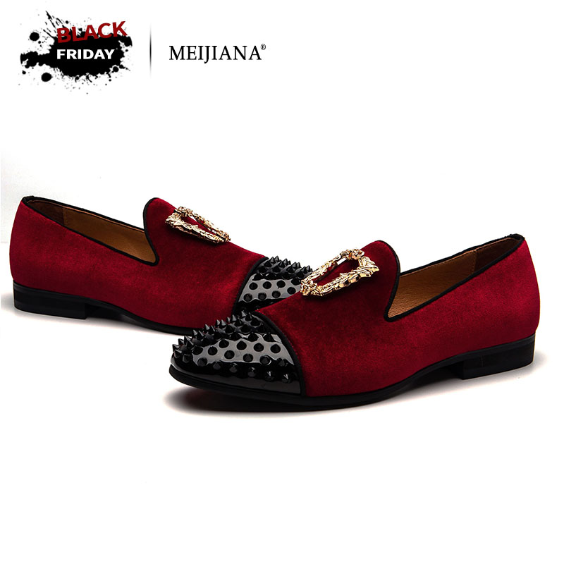 MEIJIANA Luxury Fashion Men Loafers Nubuck Leather Customized Handmade Male Casual Shoes Slip on Wedding Shoes new fashion gold snakeskin pattern loafers men handmade slip on leather shoes big sizes men s party and prom shoes casual flats